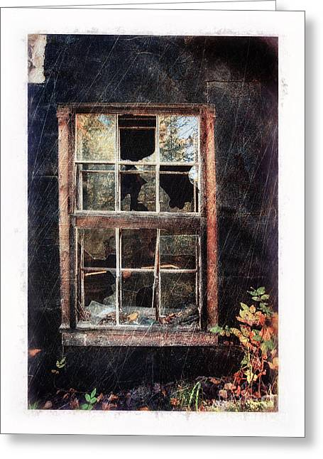 Old Window 7 Greeting Card