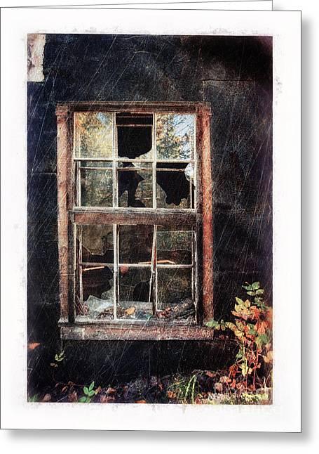 Old Window 7 Greeting Card by Priska Wettstein