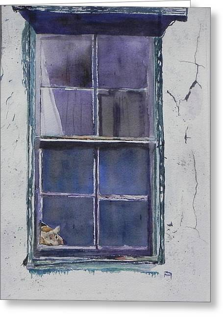 Old Window And New Home Greeting Card