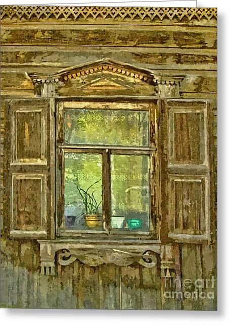 Old Window In Siberia Greeting Card