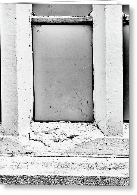 Old Window Ledge Greeting Card
