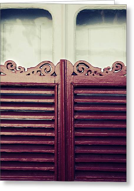 Old Window Shutters Greeting Card