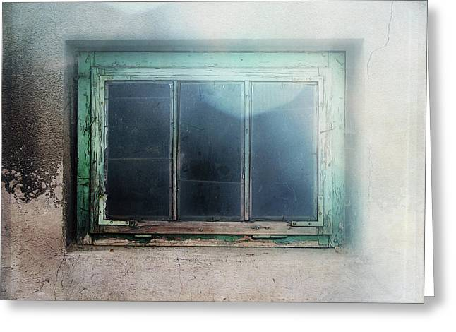 Old Window Greeting Card by Terry Davis