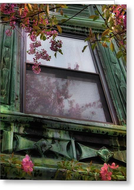 Old Windows - Back Bay Boston Greeting Card by Joann Vitali