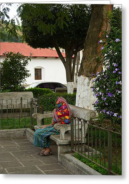 Old Woman Resting 2 Greeting Card