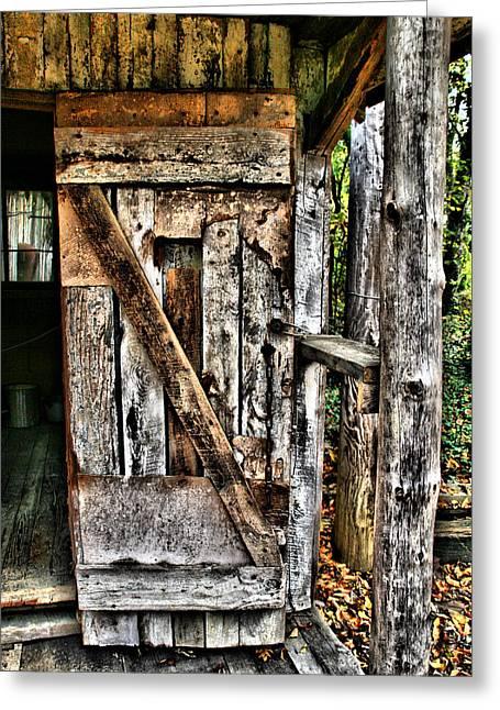 Old Wood Door 1 Greeting Card by Dennis Sullivan