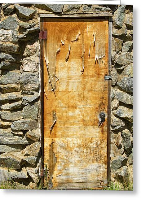 Old Wood Door And Stone - Vertical  Greeting Card by James BO  Insogna