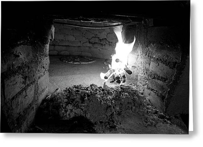 Old Wood Oven Greeting Card