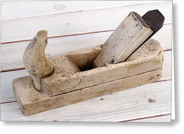 Old Wood Planer Greeting Card by Michal Boubin