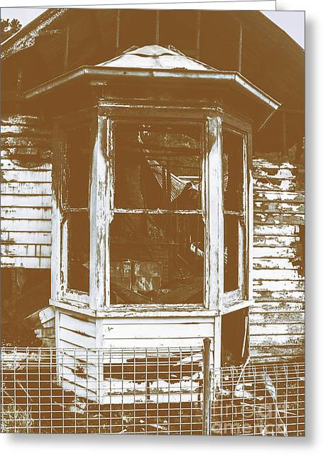 Old Wooden Burnt House Destroyed By Fire Greeting Card by Jorgo Photography - Wall Art Gallery