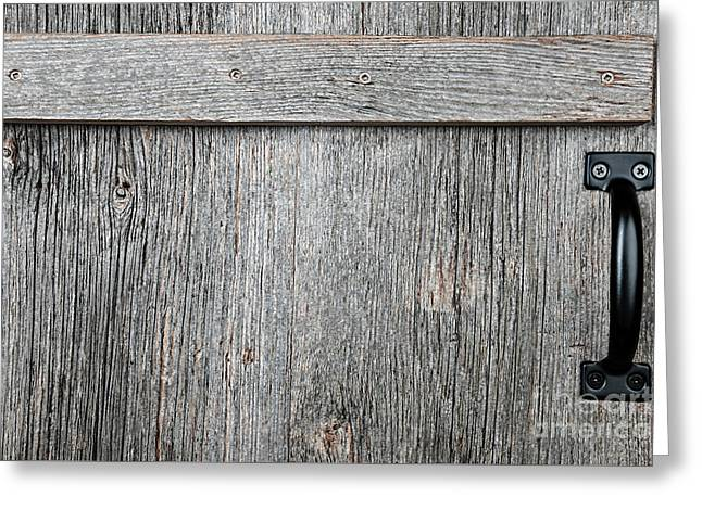 Old Wooden Door Detail Greeting Card by Elena Elisseeva