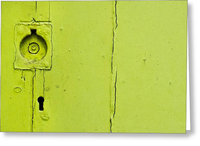 Old Wooden Door Greeting Card by Tom Gowanlock