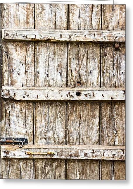 Old Wooden Gate Greeting Card by Tom Gowanlock