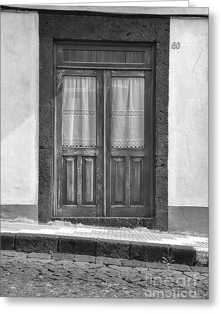 Old Wooden House Door Greeting Card