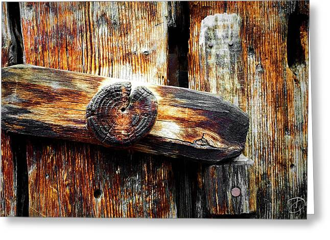 Old Wooden Latch Greeting Card