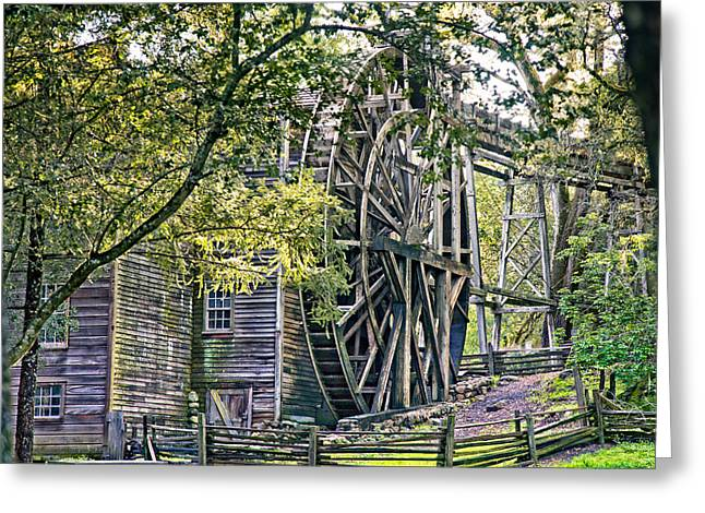 Greeting Card featuring the photograph Old Wooden Mill by Kim Wilson