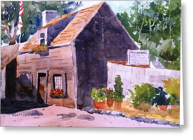 Old Wooden School House Greeting Card by Larry Hamilton