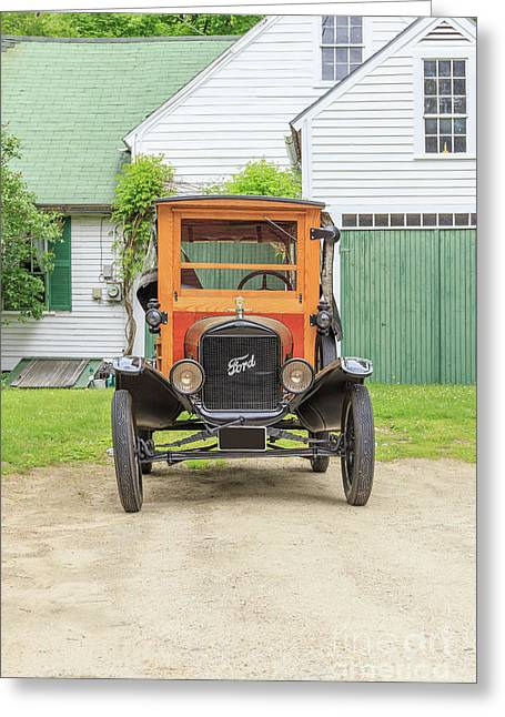 Old Woodie Model T Ford  Greeting Card