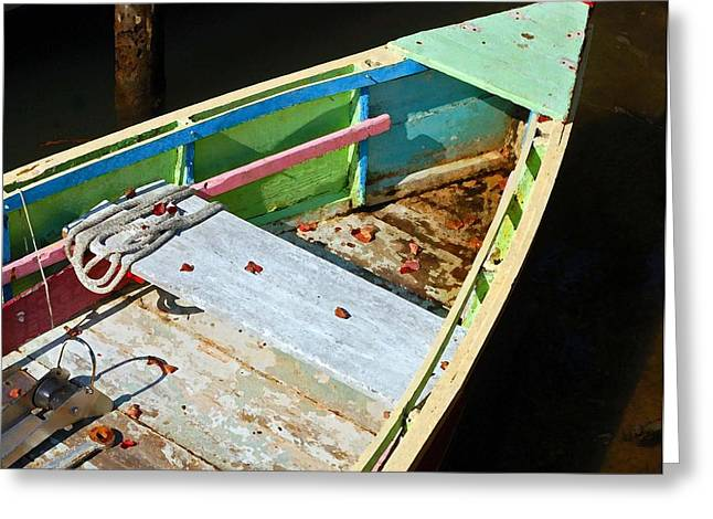 Old Work Boat Greeting Card by Michael Thomas