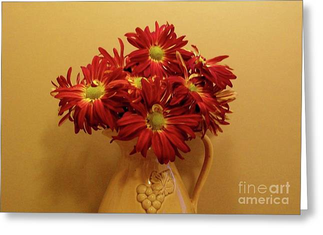 Old World Bouquet Greeting Card by Marsha Heiken