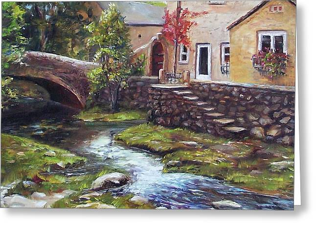Old World Cottage Greeting Card by Donna Munsch