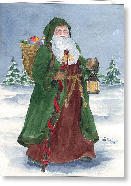 Old World Father Christmas Greeting Card