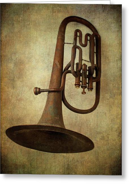 Old Worn Horn Greeting Card by Garry Gay