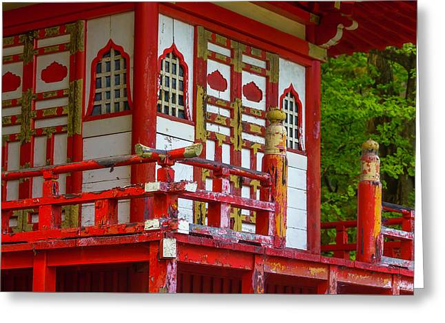Old Worn Pagoda Greeting Card by Garry Gay