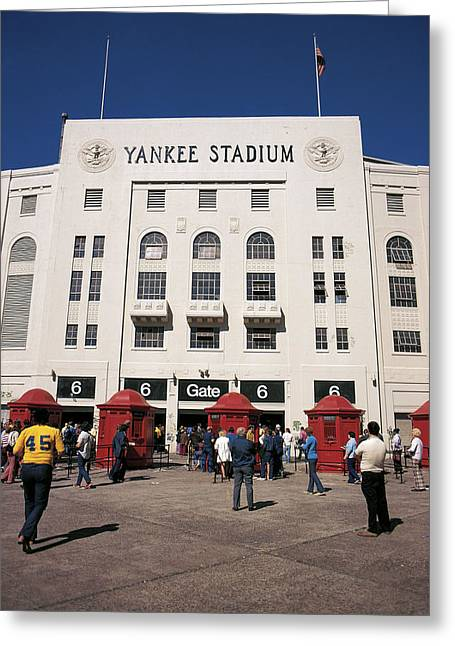 Old Yankee Stadium Last Game Greeting Card