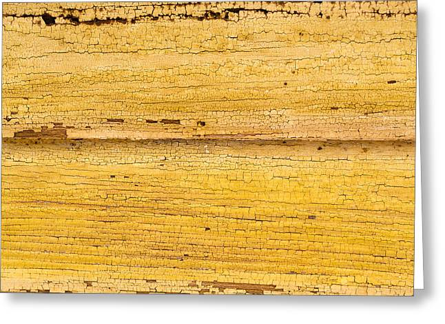 Old Yellow Paint On Wood Greeting Card by John Williams