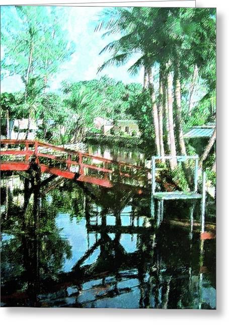 Olde Cypress Gardens Greeting Card by Florene Welebny