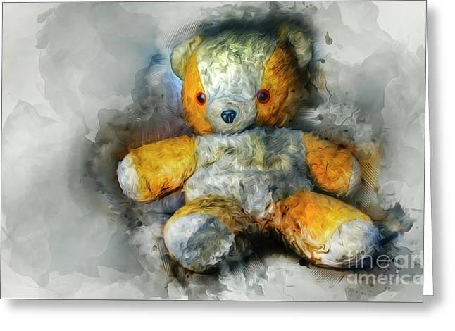 Olde Teddy Bear Greeting Card