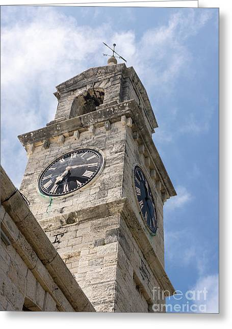 Olde Time Clock Greeting Card