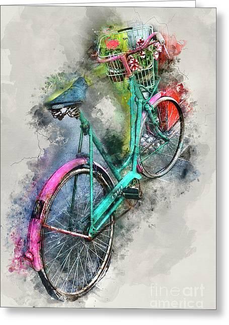 Olde Vintage Bicycle Greeting Card