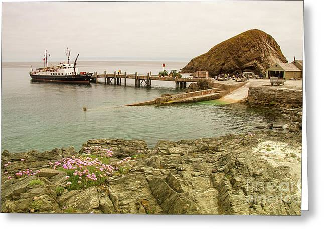 Oldenburg At Lundy Island  Greeting Card by Rob Hawkins