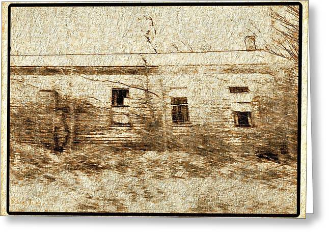 Older Home In Beige And Brown Greeting Card by Debra Lynch