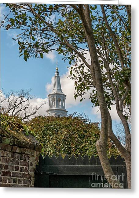 Oldest Church In Charleston Greeting Card by Dale Powell