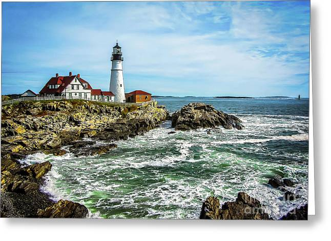 Oldest Lighthouse In Maine Greeting Card