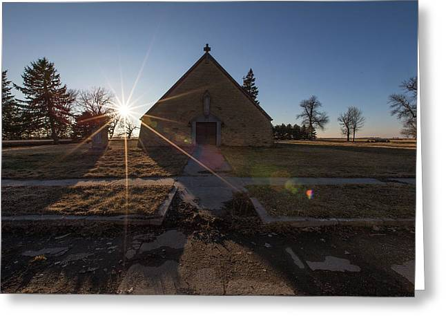 Greeting Card featuring the photograph Oldham, Sd by Aaron J Groen