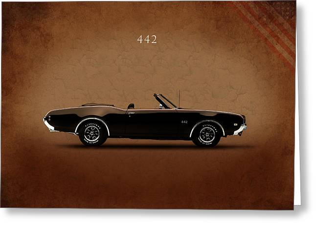 Oldsmobile 442 Greeting Card by Mark Rogan