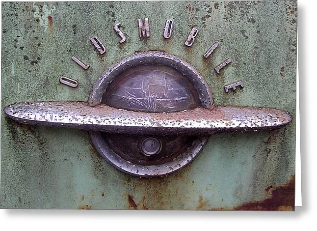Oldsmobile Greeting Card by Audrey Venute