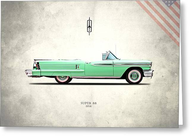 Oldsmobile Super 88 1958 Greeting Card by Mark Rogan