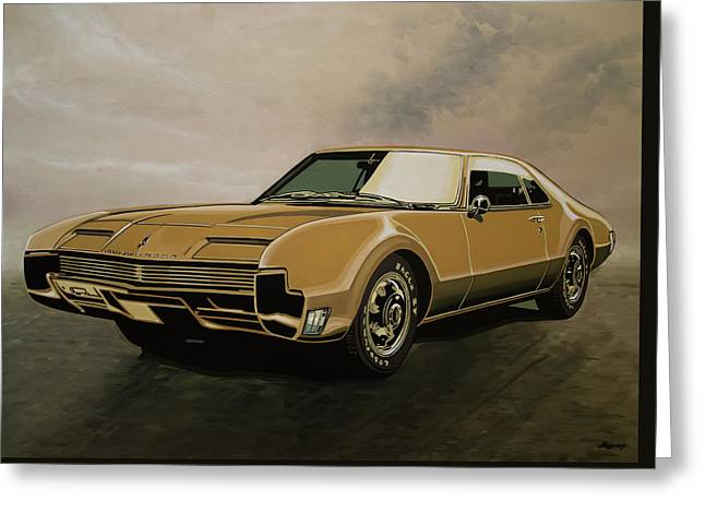 Oldsmobile Toronado 1965 Painting Greeting Card