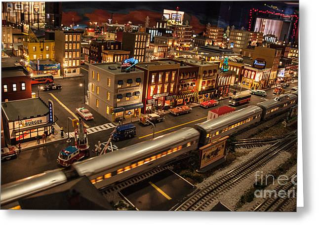 Oldtown Model Railroad Depot Greeting Card