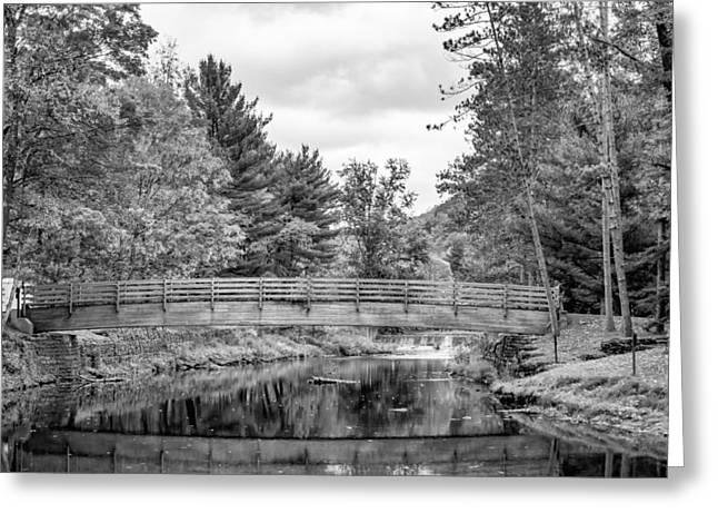 Ole Bull State Park - Pennsylvania - Bw Greeting Card by Steve Harrington