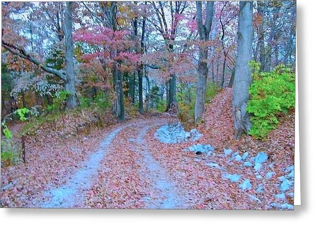 Ole Kentucky Rural Road To Nowhere Greeting Card