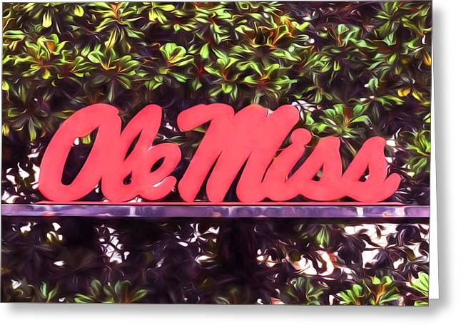 Ole Miss Magnolias Greeting Card by JC Findley