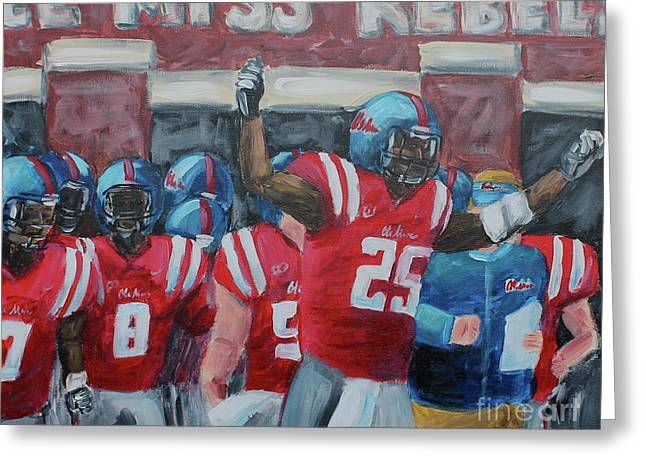 Ole Miss Ready Greeting Card