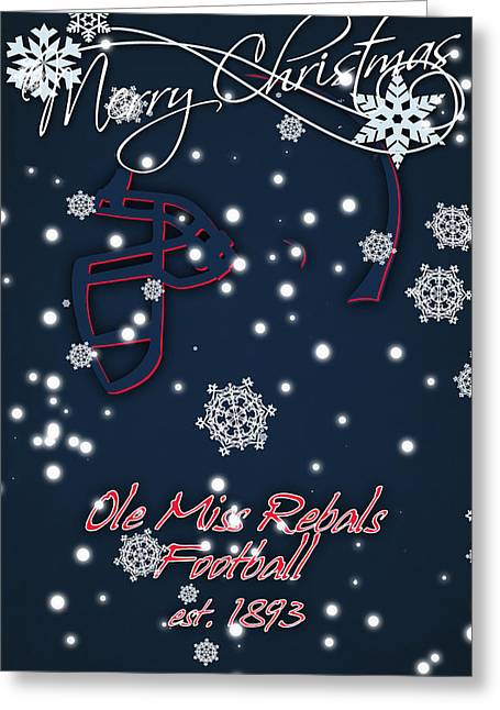 Ole Miss Rebels Christmas Card 2 Greeting Card by Joe Hamilton