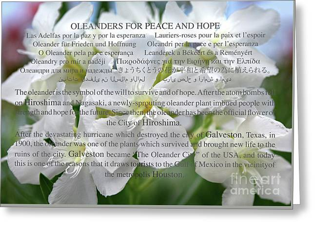Oleanders For Peace And Hope Greeting Card